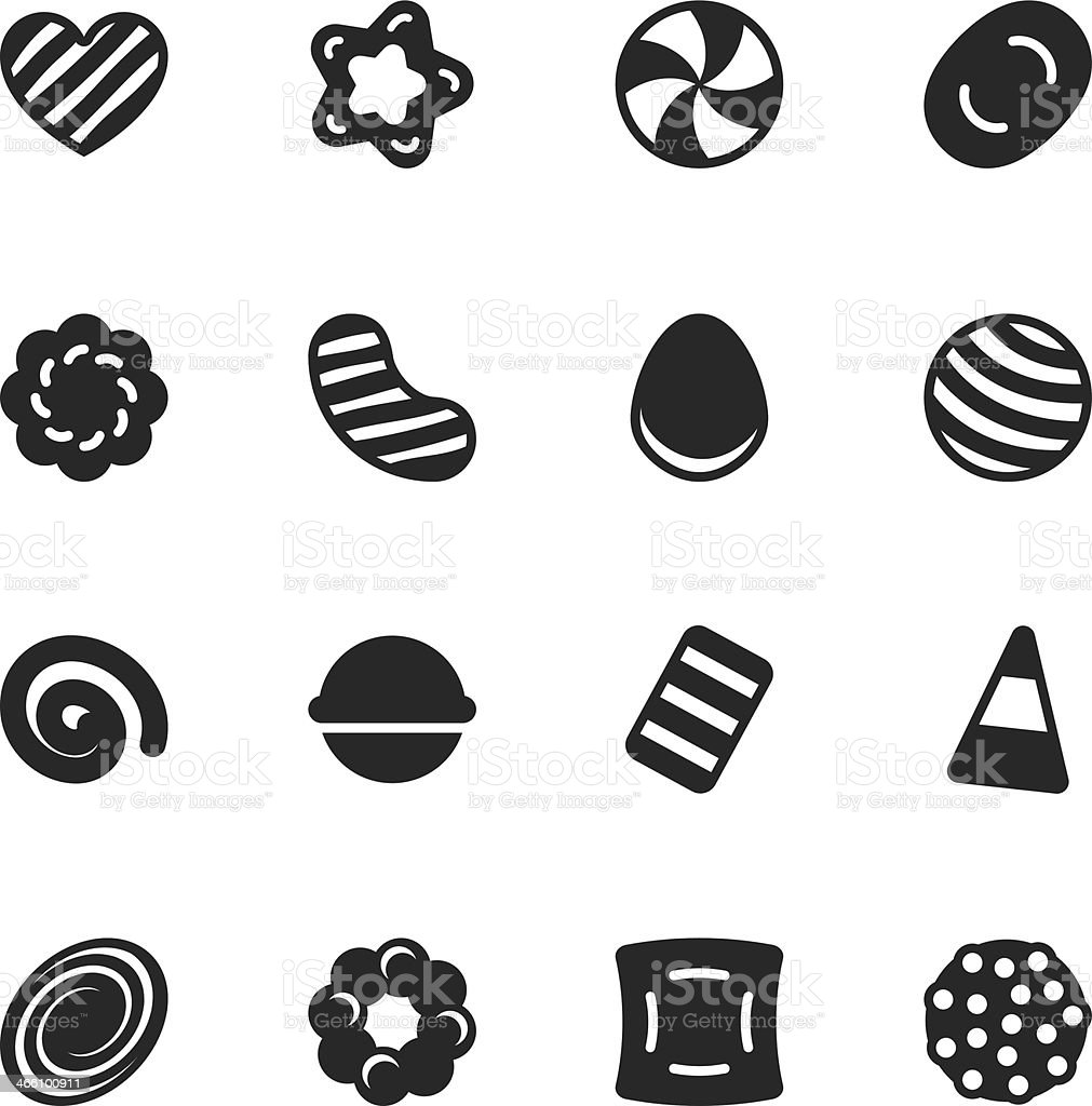 Candy Silhouette Icons   Set 2 vector art illustration