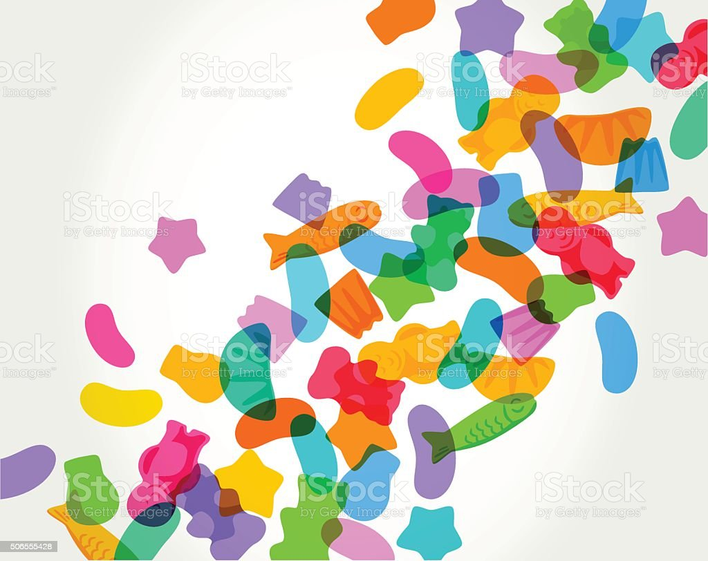 Candy Sweets vector art illustration