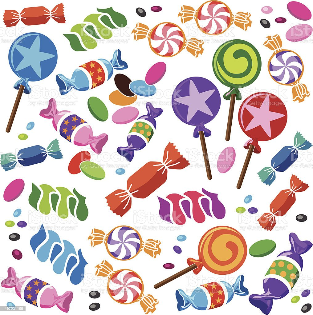 candy vector art illustration