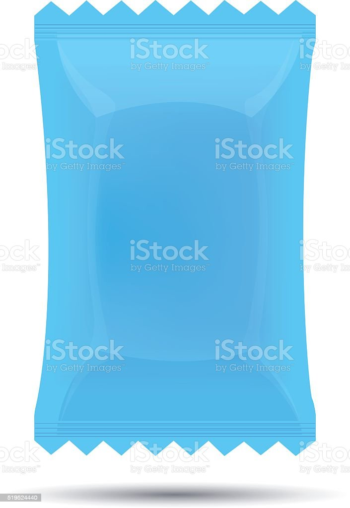 Candy wrapper vector art illustration