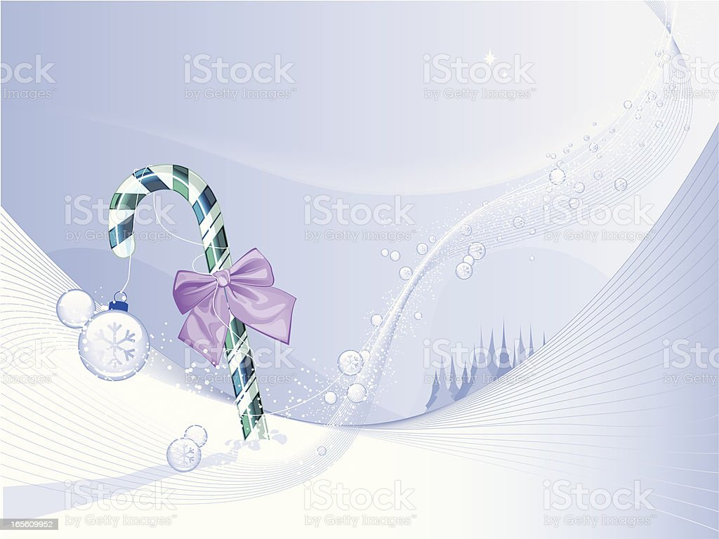 Candy-stick-with-ribbon royalty-free stock vector art