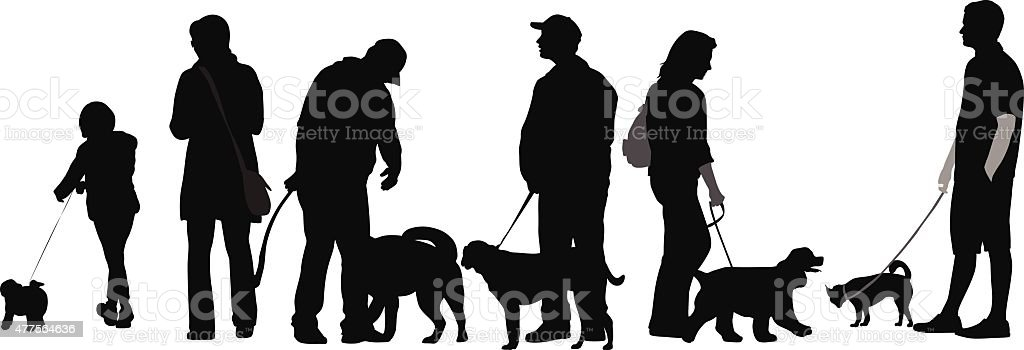 Canine Pets vector art illustration