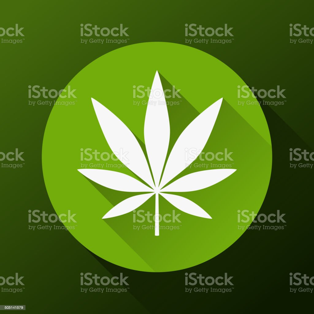 Cannabis leaf vector art illustration