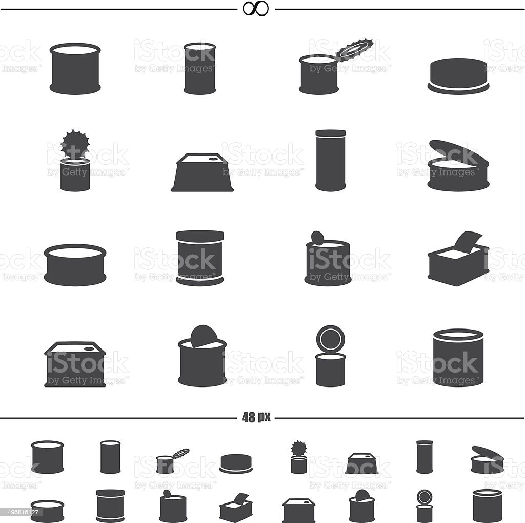 canned food icons.vector eps10 vector art illustration