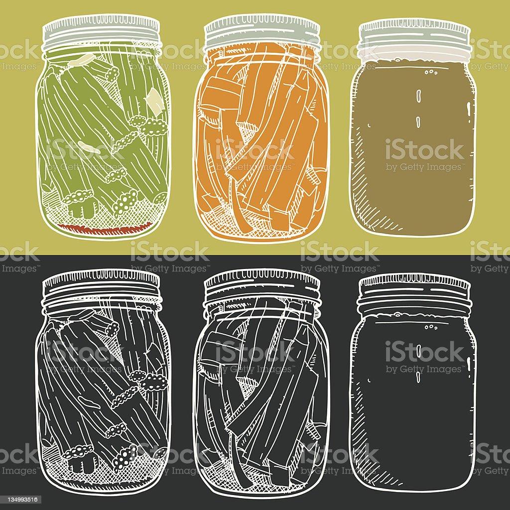 Canned Food vector art illustration