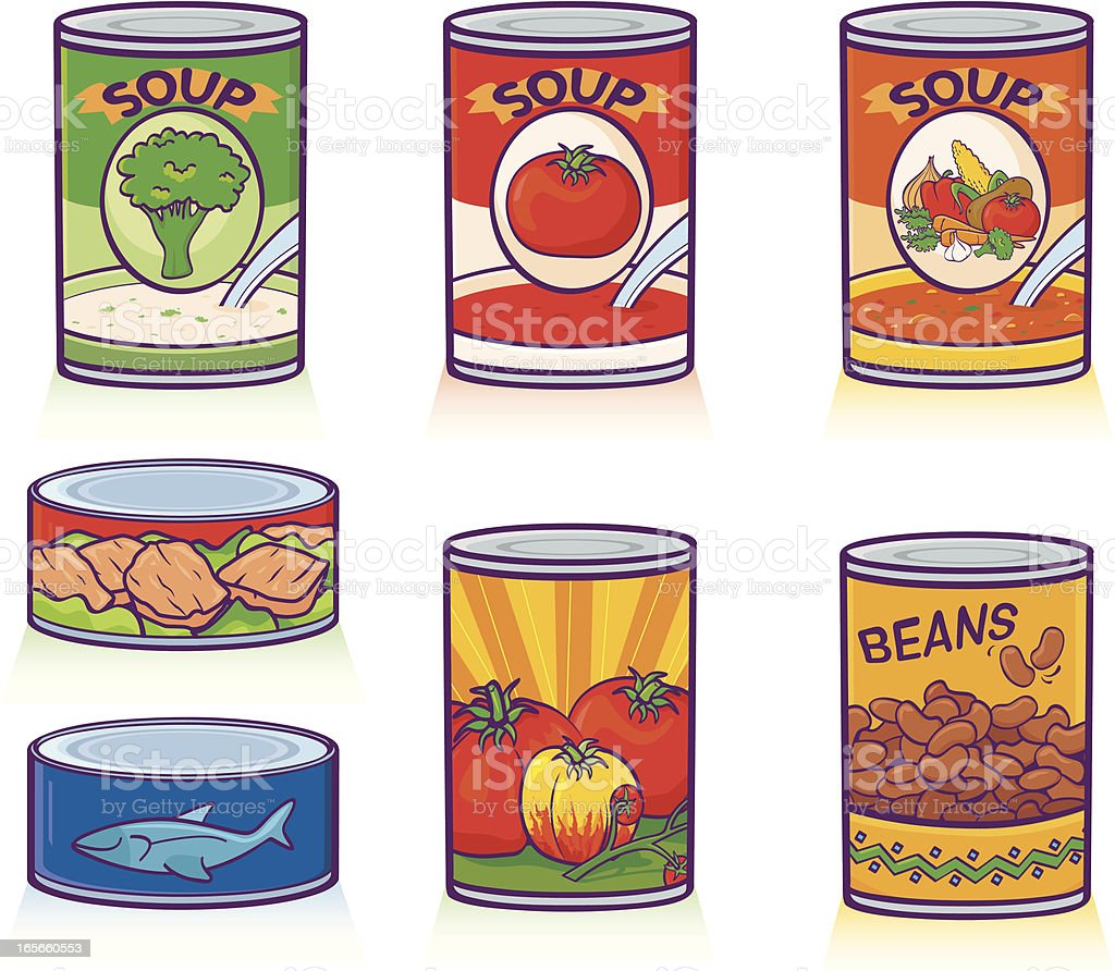 Canned Goods vector art illustration