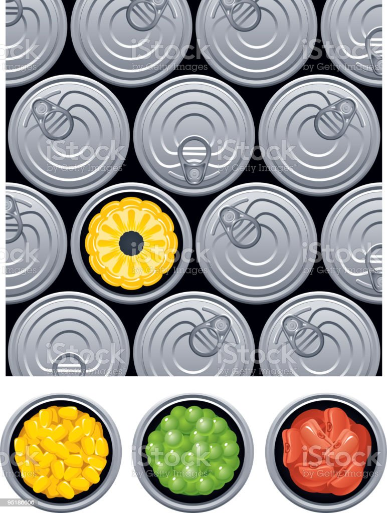 canned royalty-free stock vector art