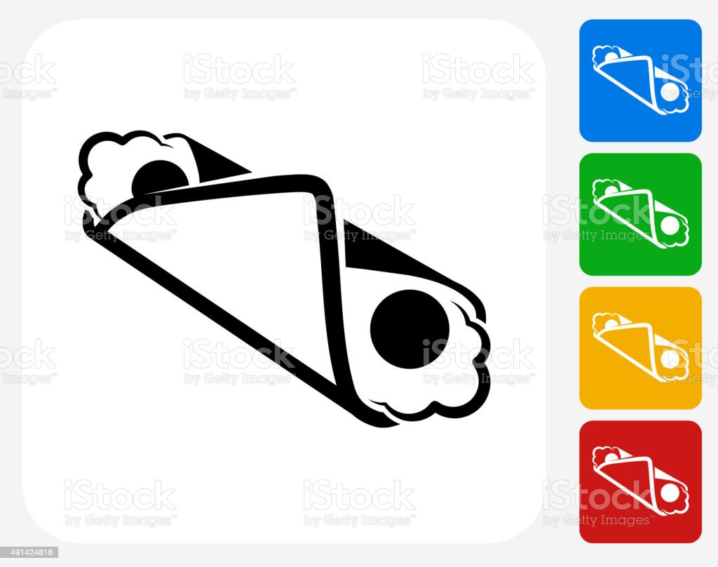 Cannoli Icon Flat Graphic Design vector art illustration