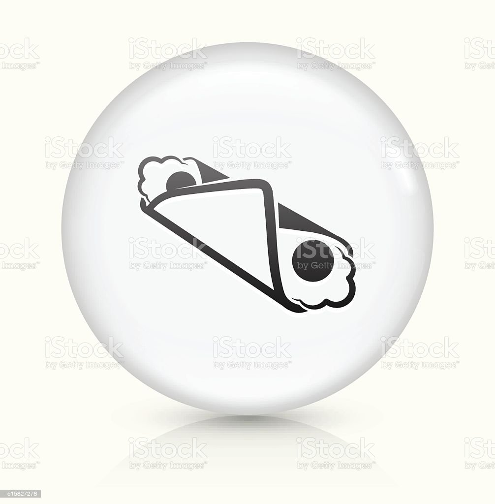 Cannoli icon on white round vector button vector art illustration