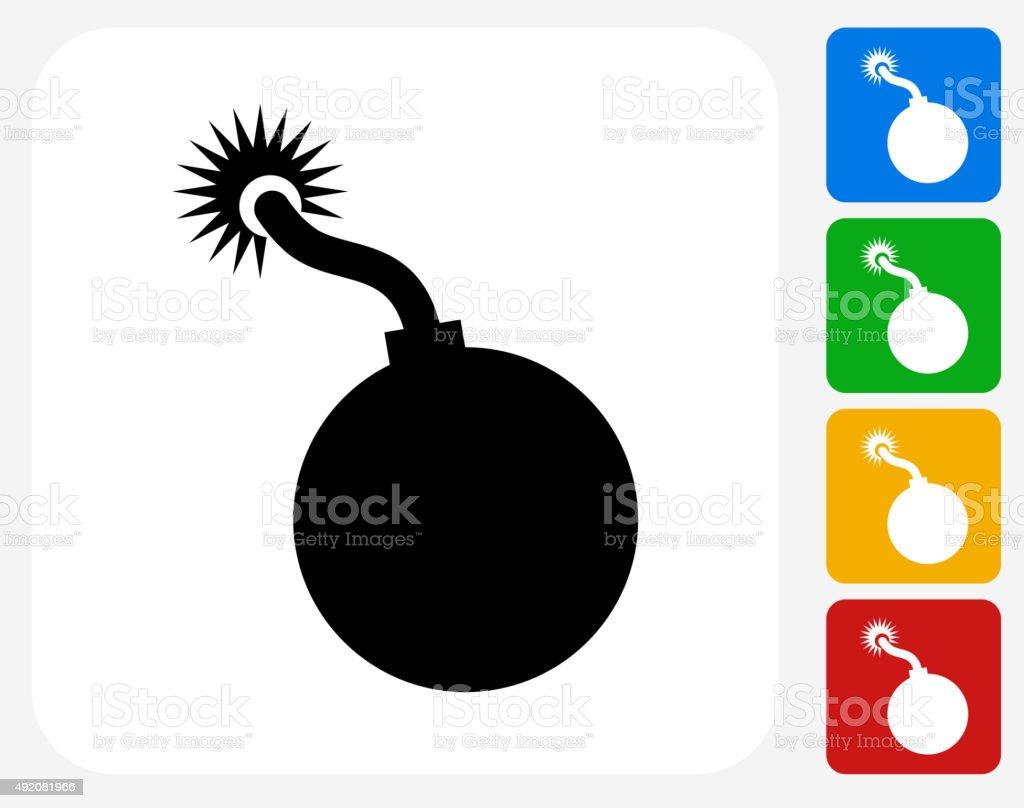 Cannon Ball Icon Flat Graphic Design vector art illustration