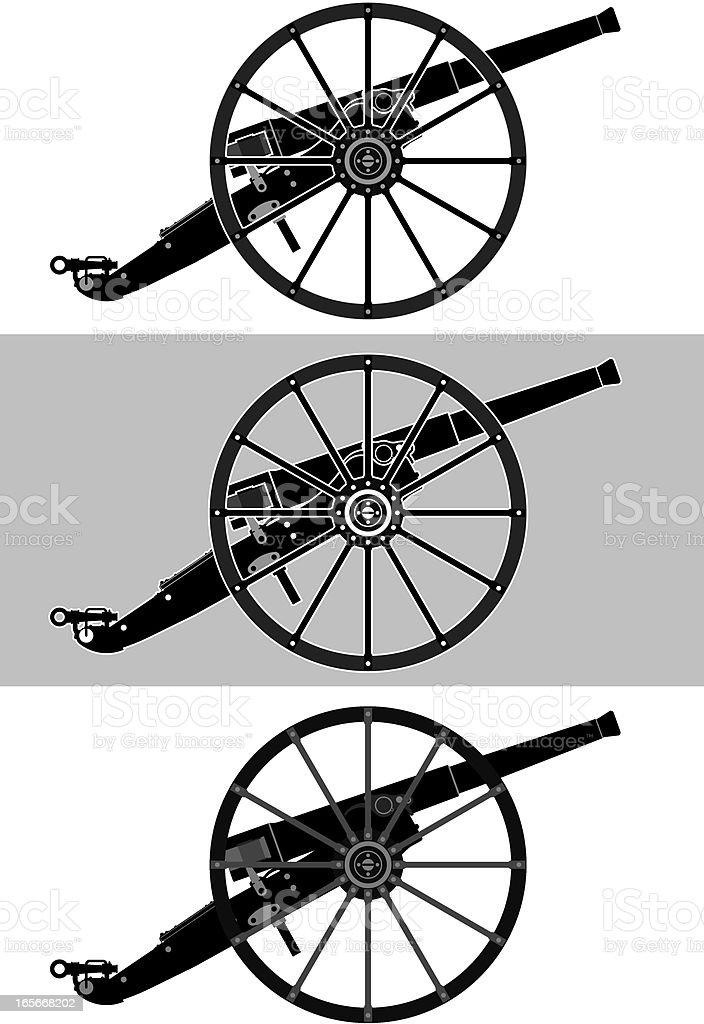cannon silhouette vector art illustration