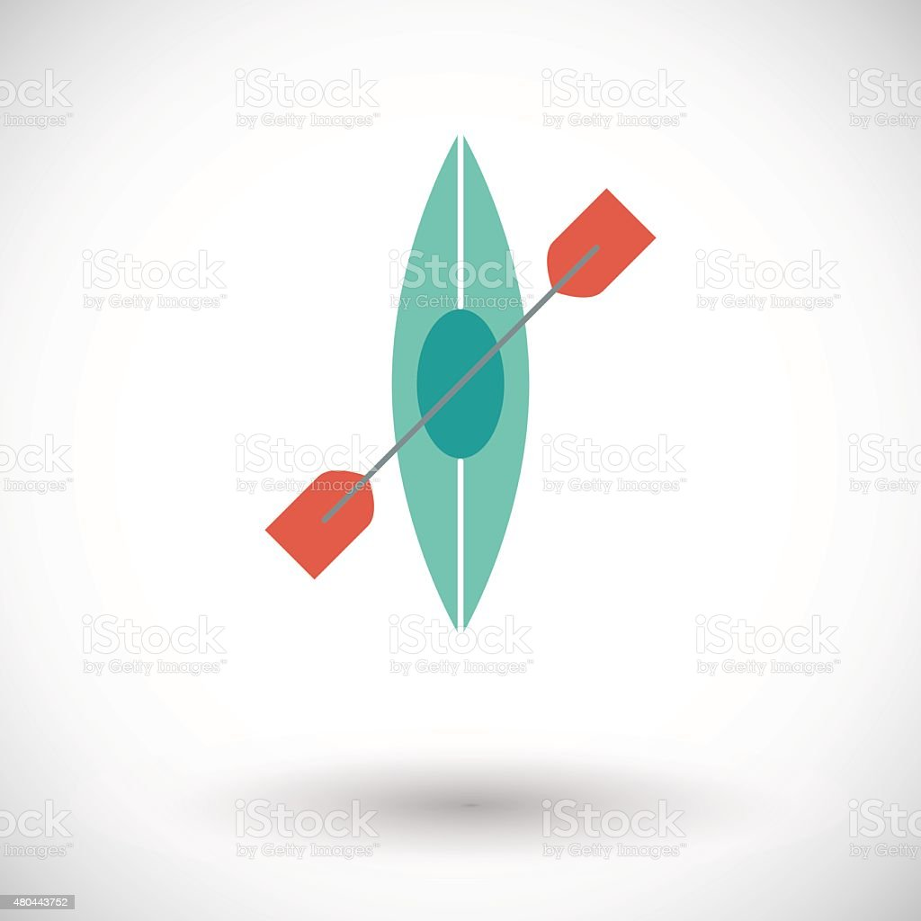 Canoe icon vector art illustration