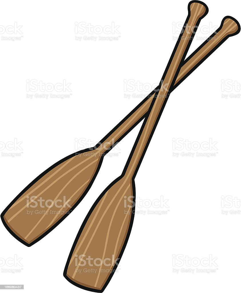Canoe Paddles royalty-free stock vector art