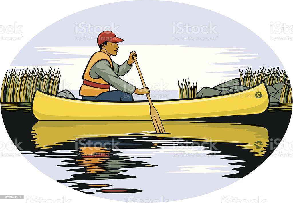 Canoe vector art illustration