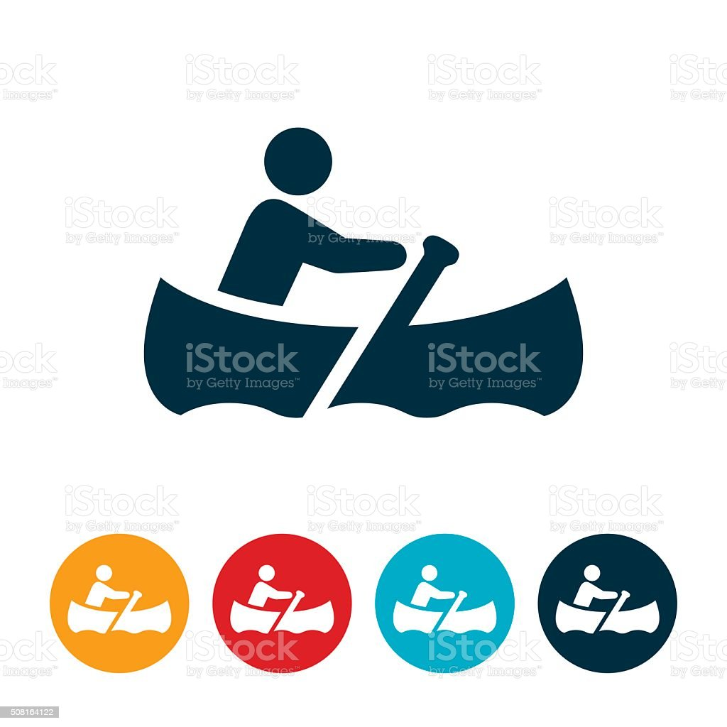 canoeing Icon vector art illustration