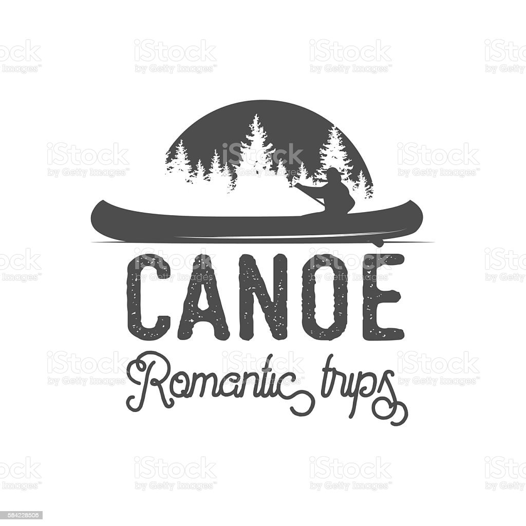 canoel badges, logo, labels and design elements vector art illustration