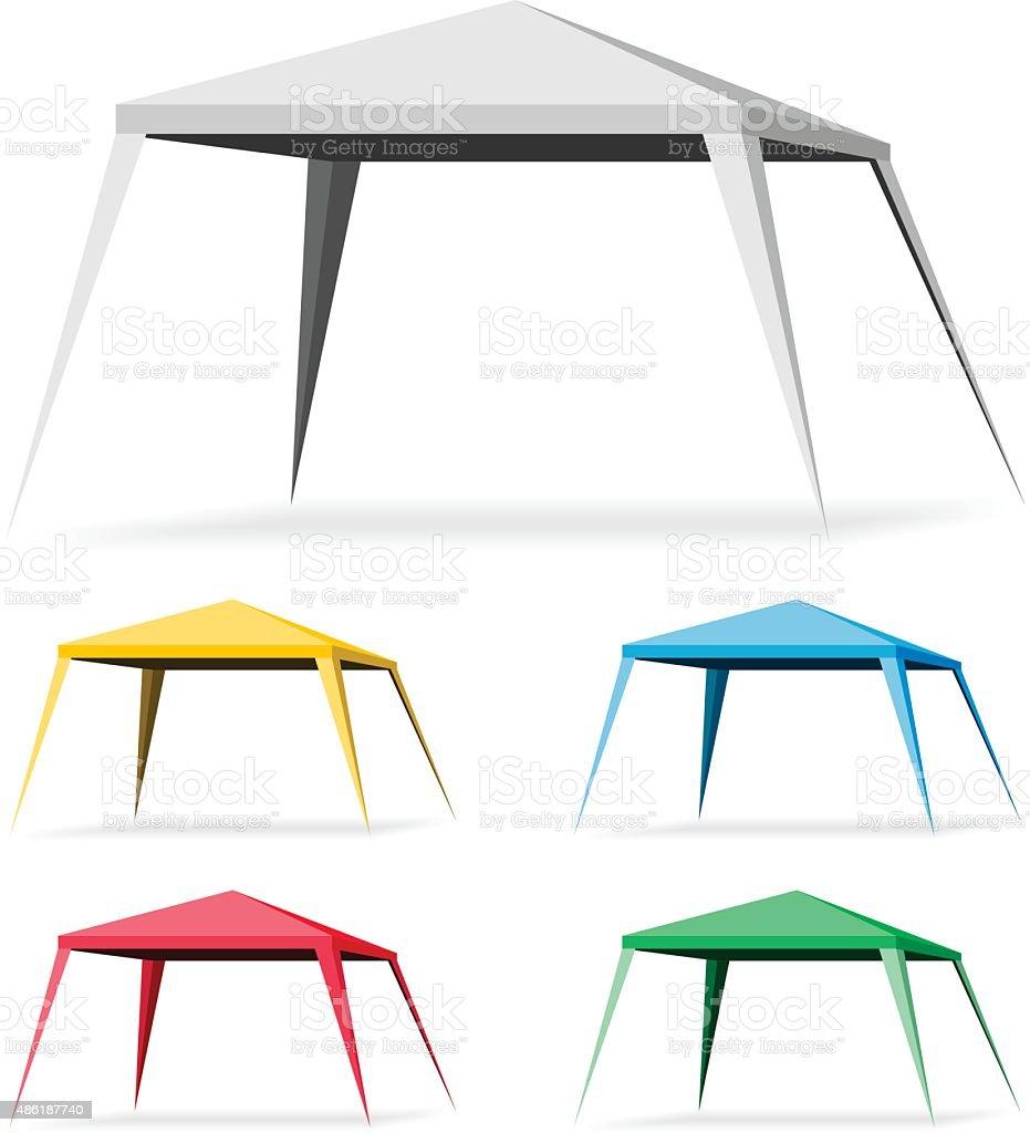 Canopy Tent vector art illustration