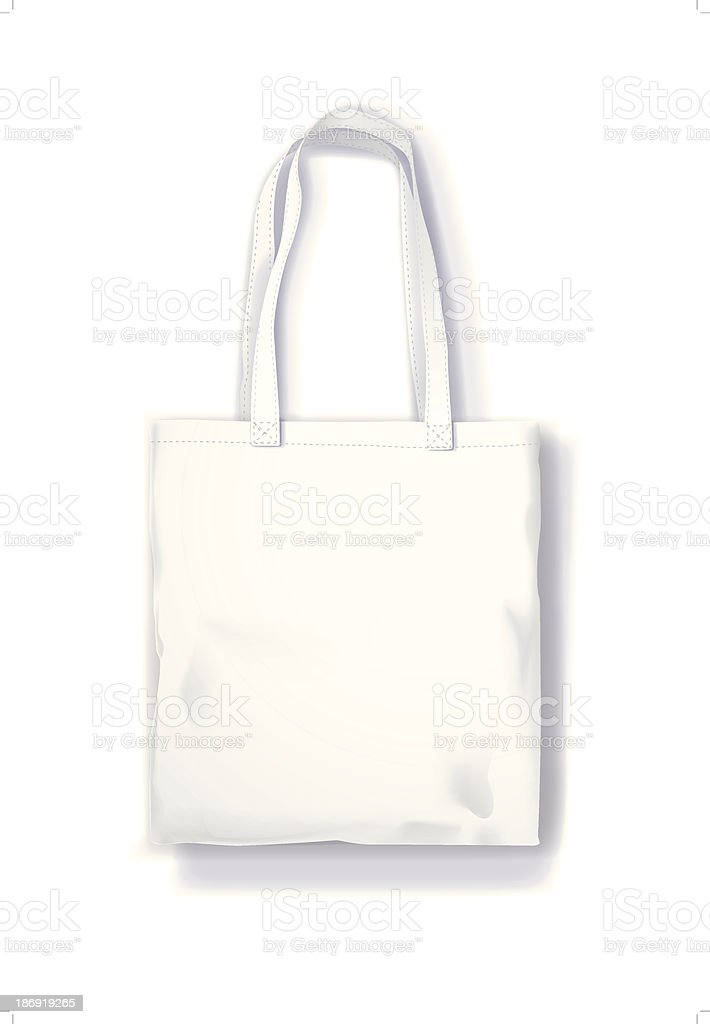 Canvas tote bag isolated on the white background vector art illustration