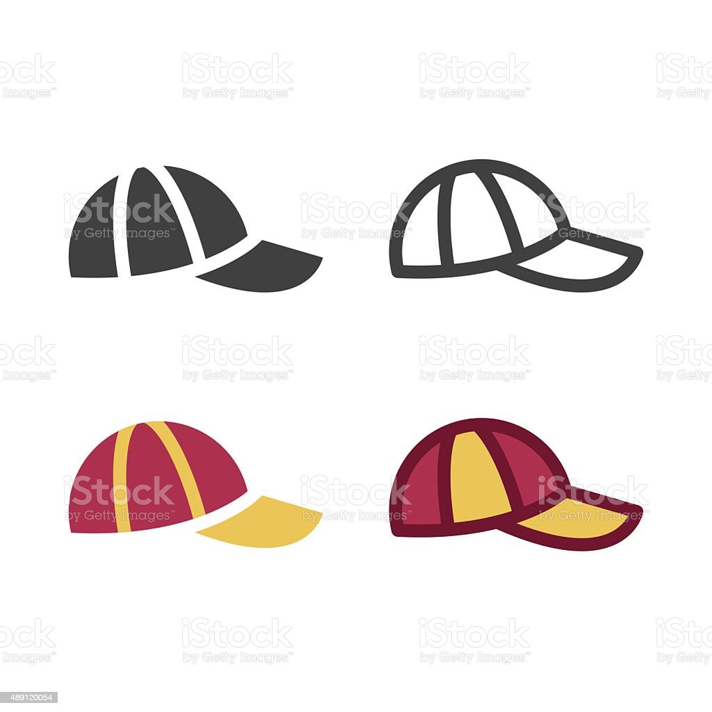 Cap Icon vector art illustration