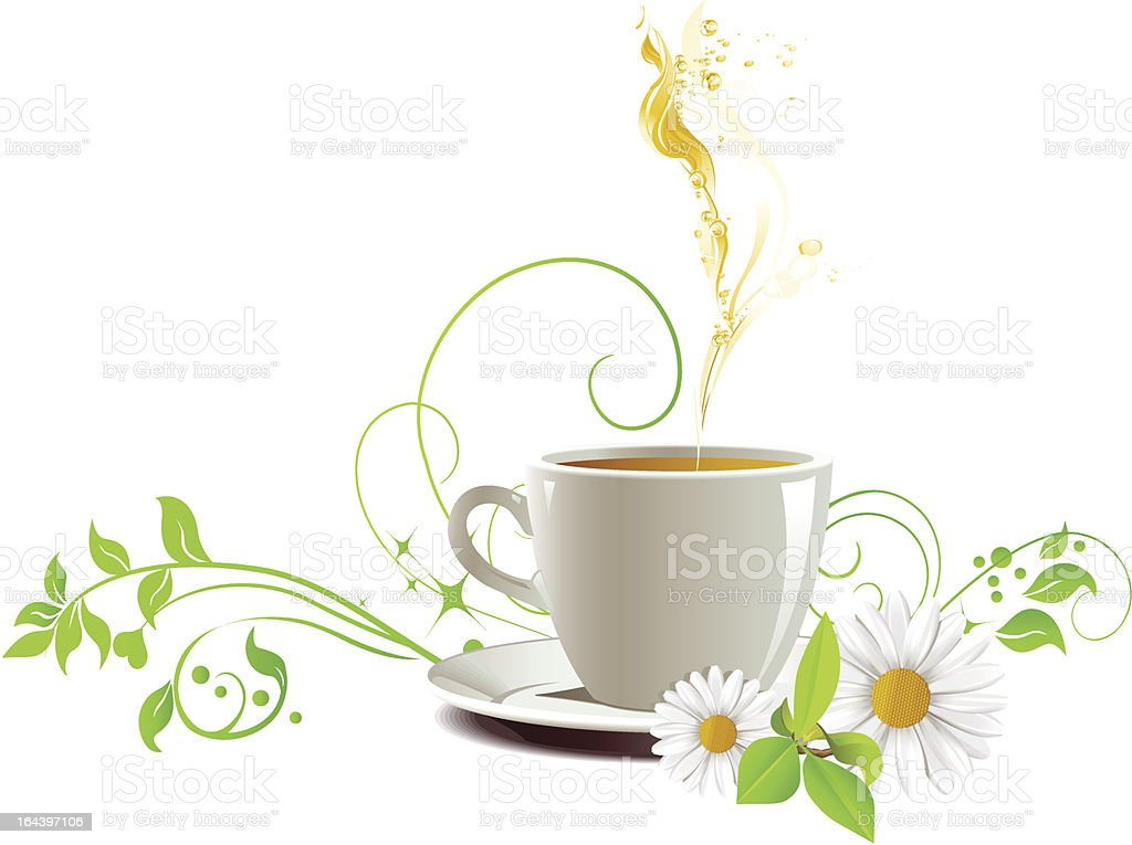Cap of tea. royalty-free stock vector art