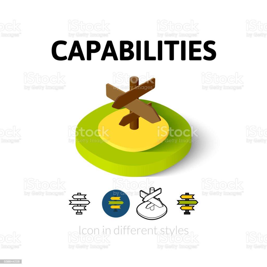 Capabilties icon in different style vector art illustration