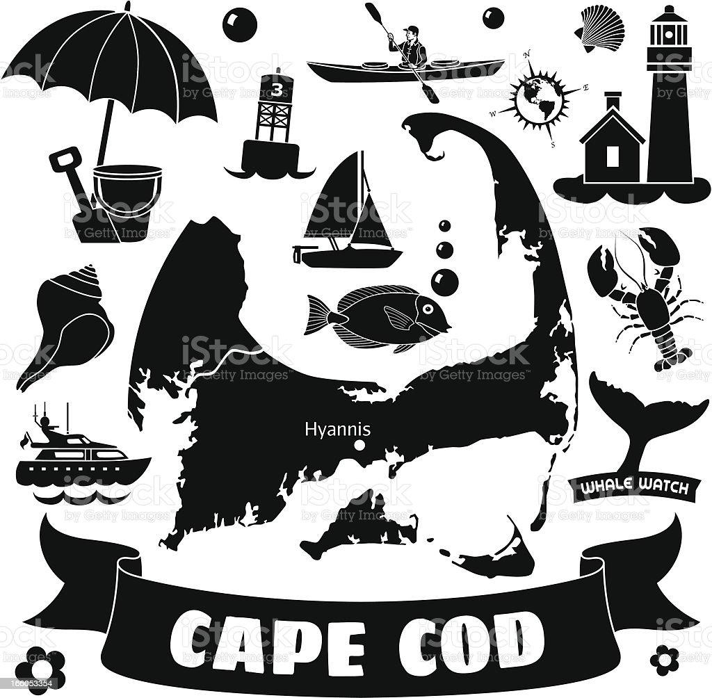 Cape Cod royalty-free stock vector art