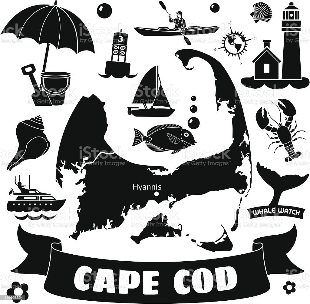 Cape Cod vector art illustration