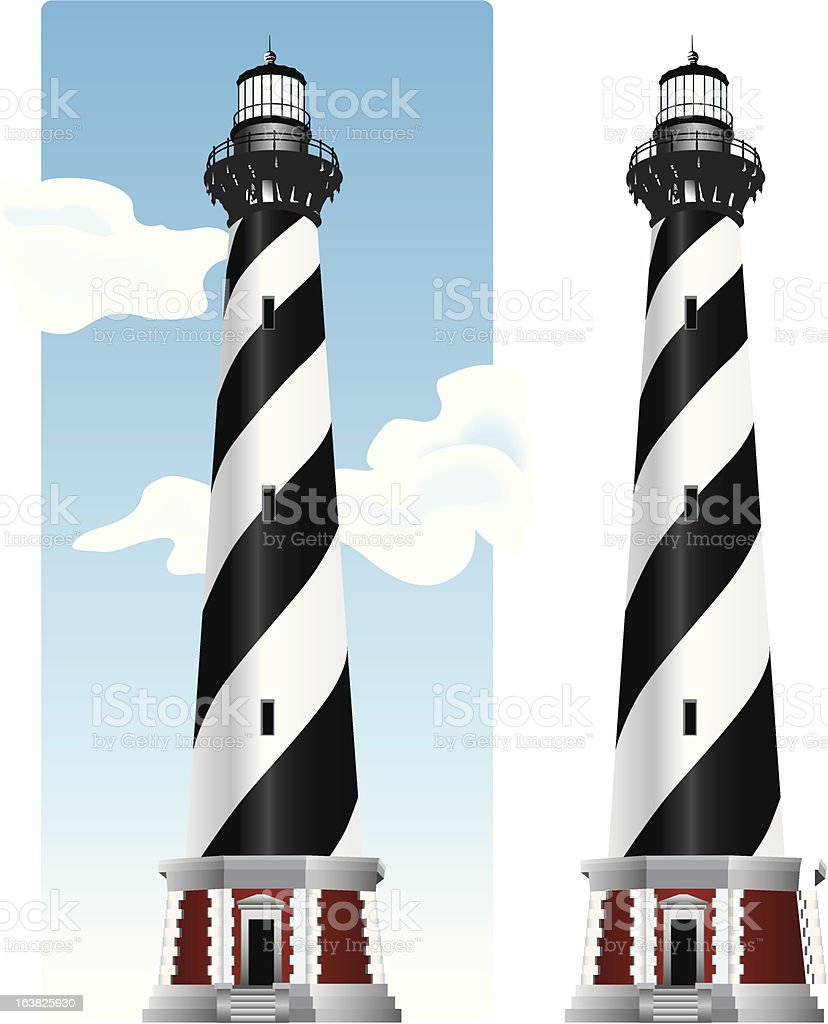 Cape Hateras Lighthouse royalty-free stock vector art