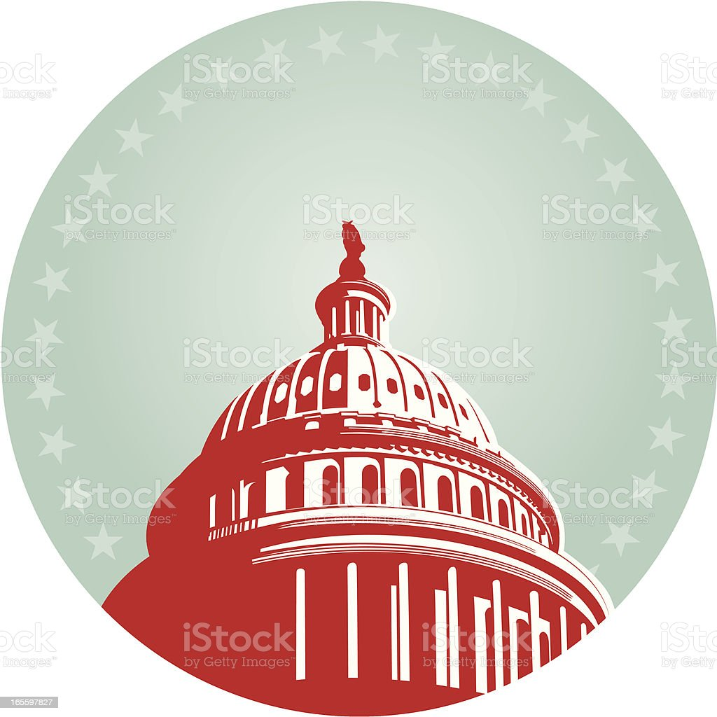 USA Capital Dome vector art illustration