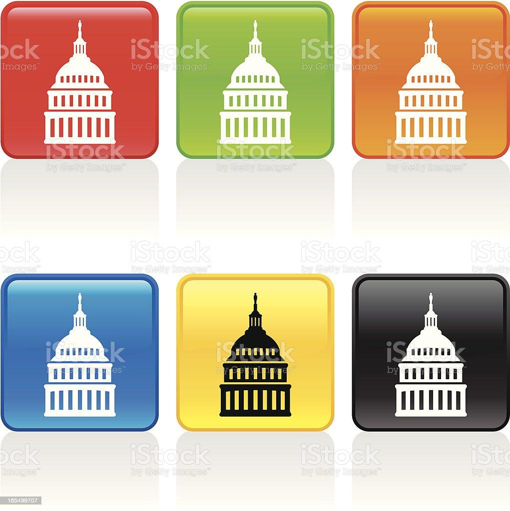 Capital Icon vector art illustration