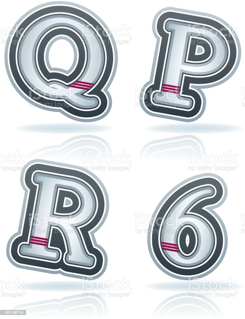 Capital Letters royalty-free stock vector art