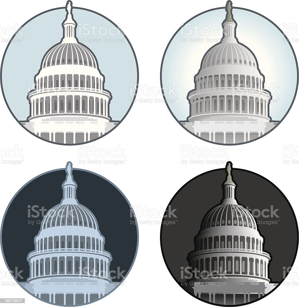 Capitol Building Dome vector art illustration