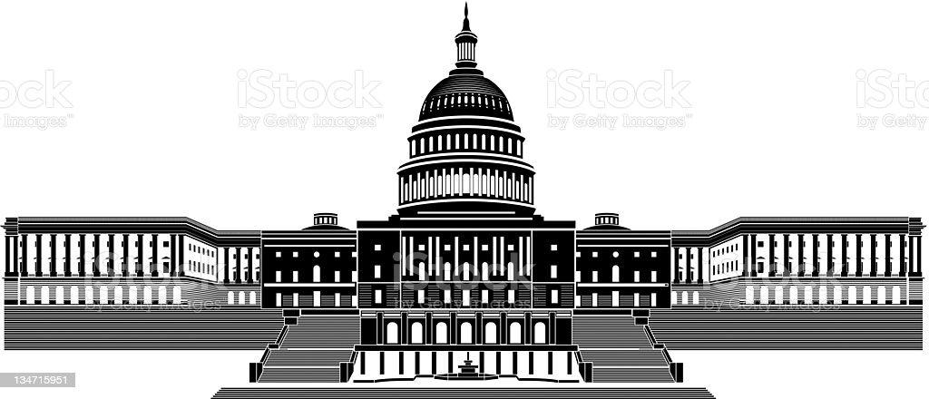 Capitol Building vector art illustration