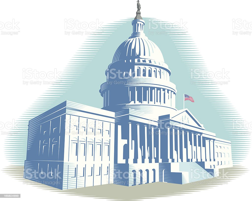 Capitol Building royalty-free stock vector art