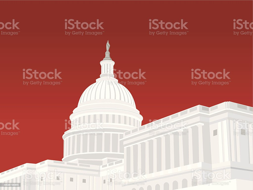 Capitol Building vector art illustration