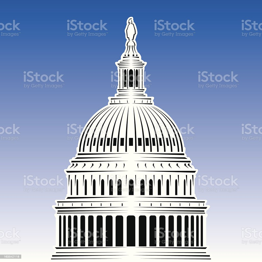 US Capitol royalty-free stock vector art