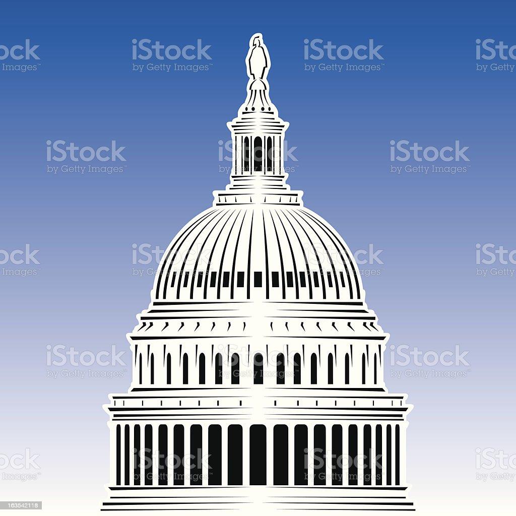 US Capitol vector art illustration