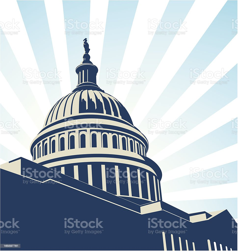 USA capitol vector art illustration