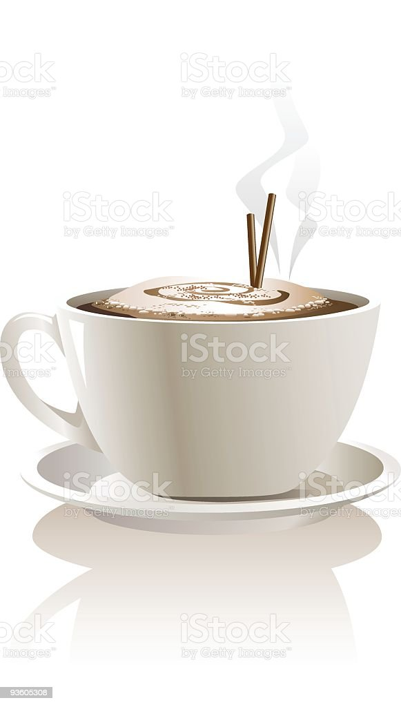 Cappuccino vector art illustration