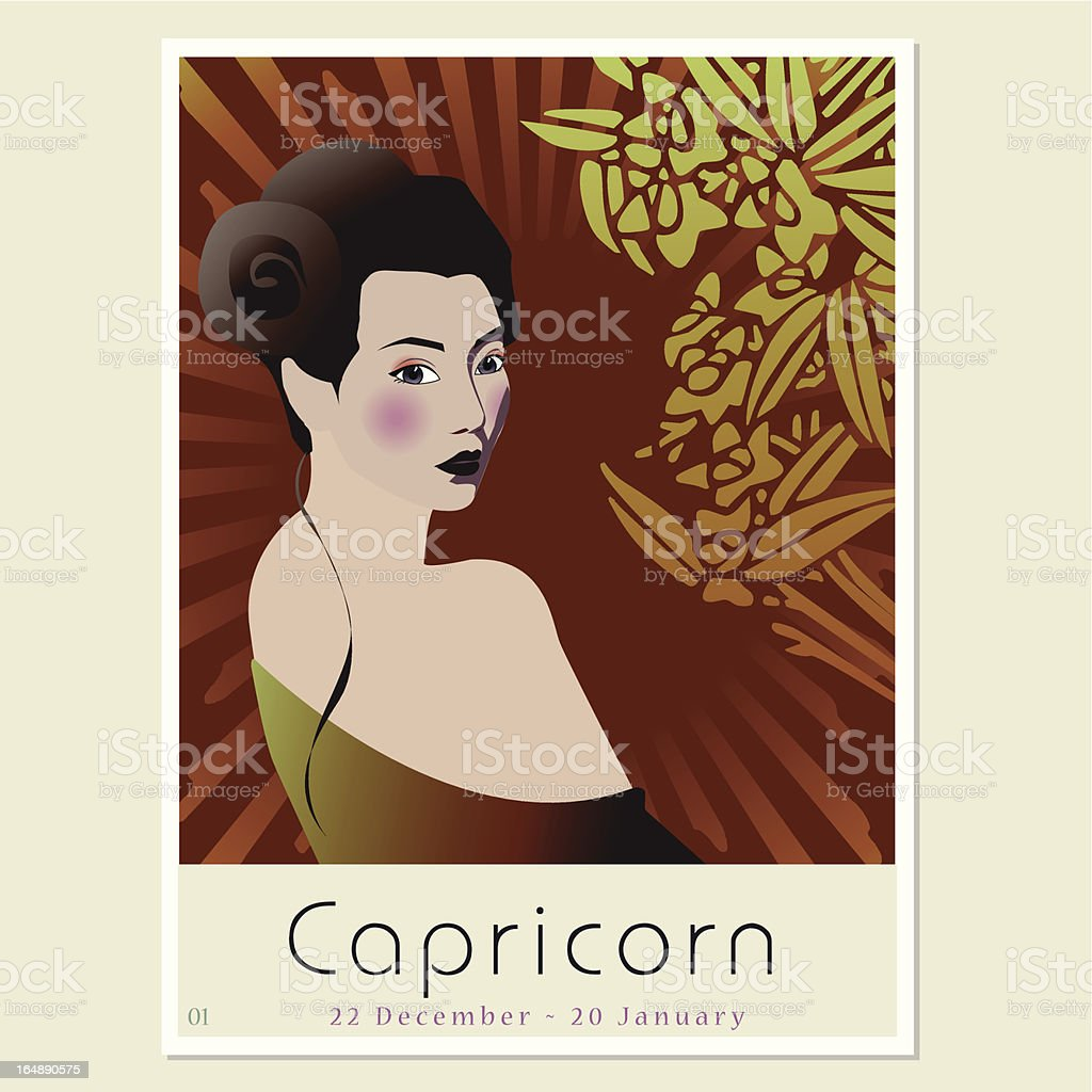 Capricorn royalty-free stock vector art