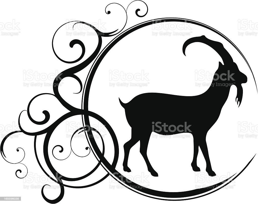 Capricorn vector art illustration