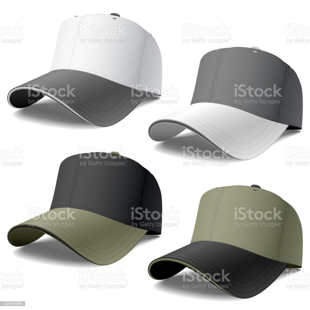 Caps royalty-free stock vector art