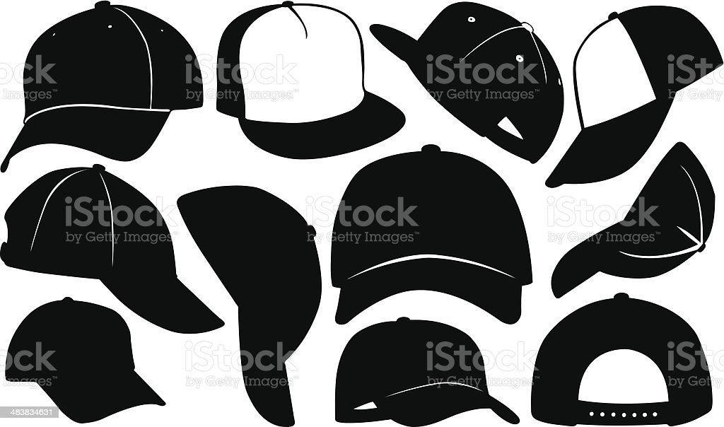 caps vector art illustration