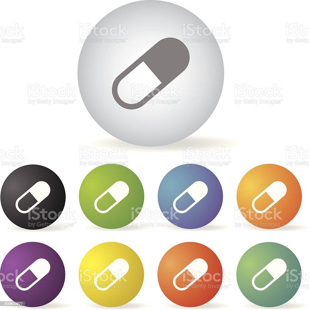 capsule medicine button set royalty-free stock vector art