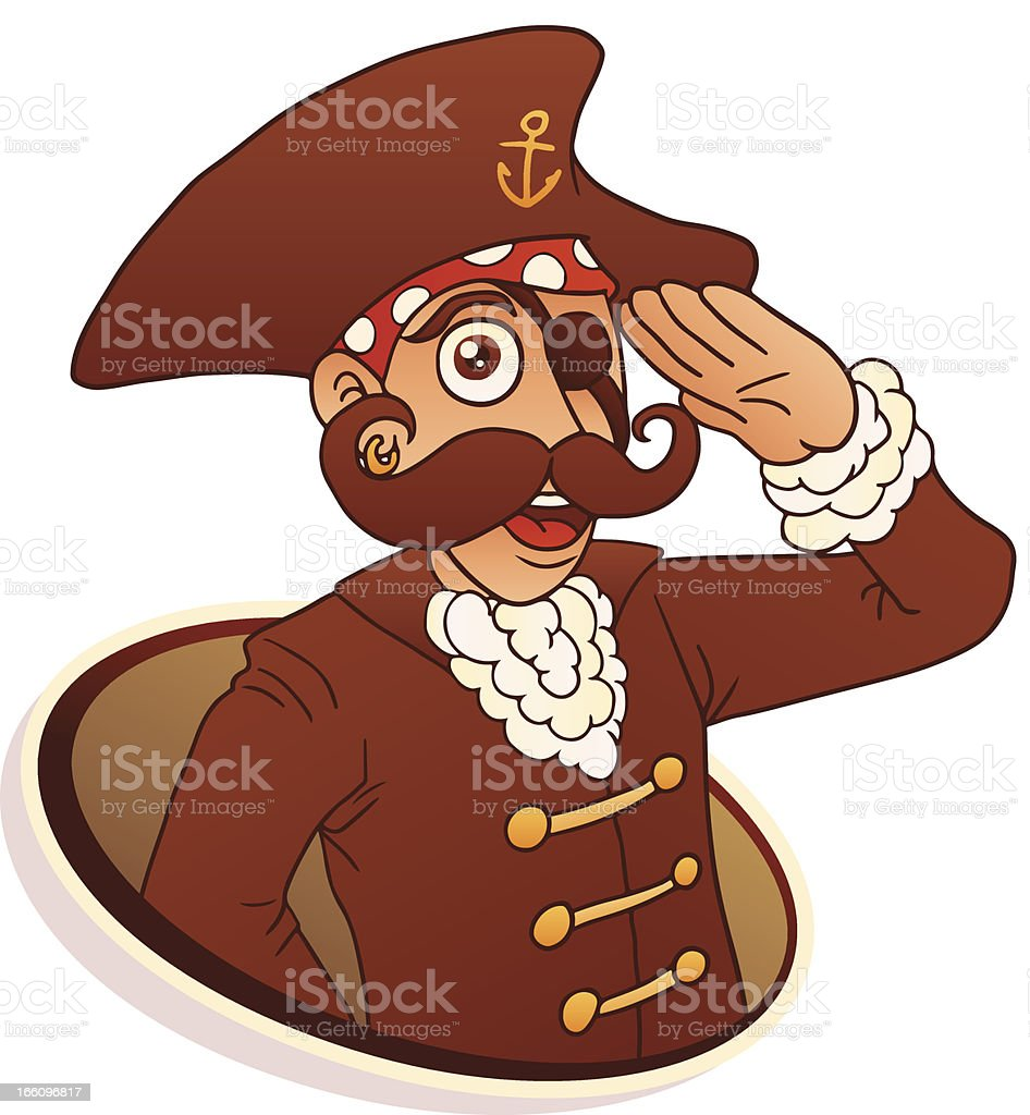 Captain Pirate royalty-free stock vector art