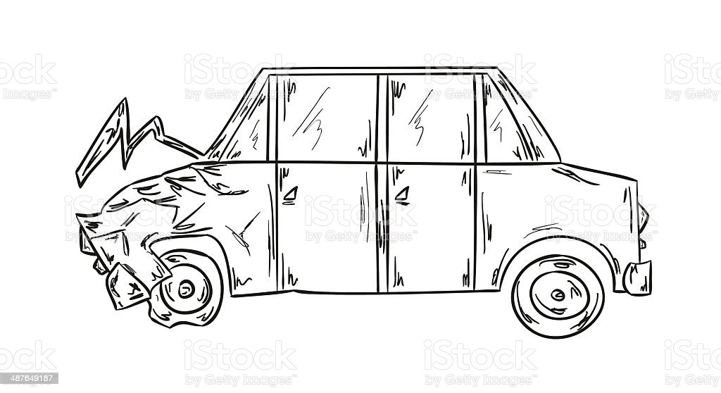 car accident royalty-free stock vector art
