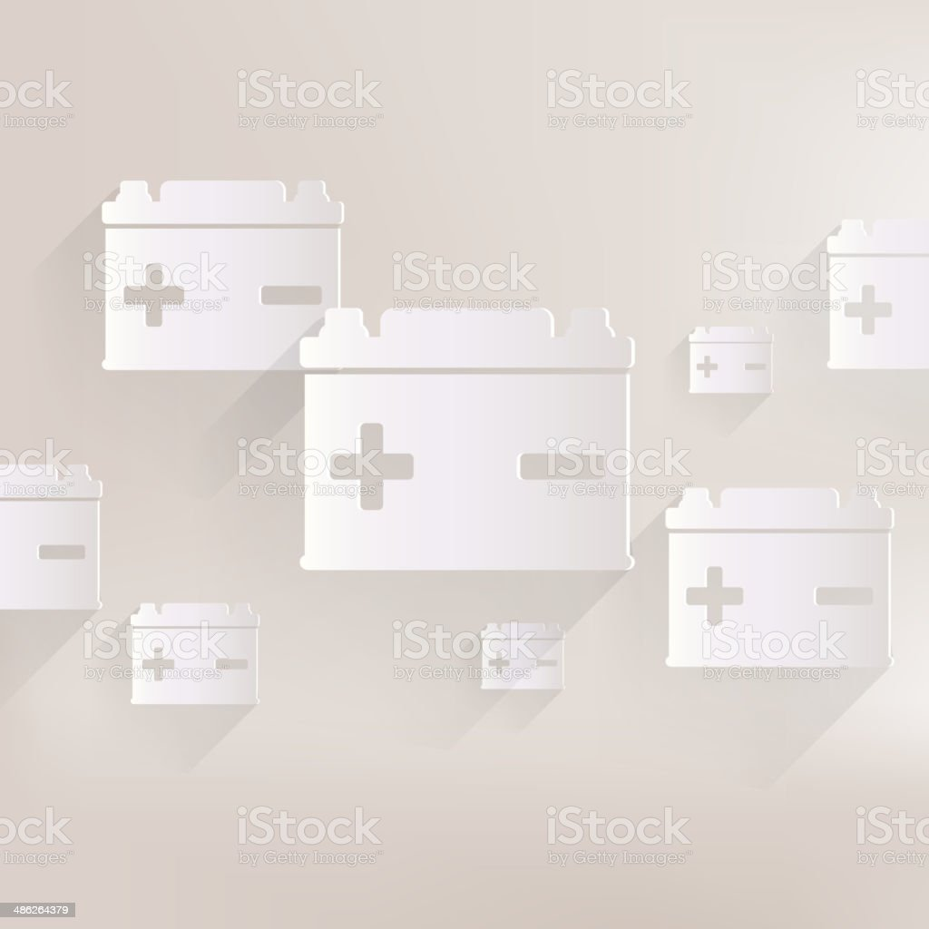 Car battery icon royalty-free stock vector art