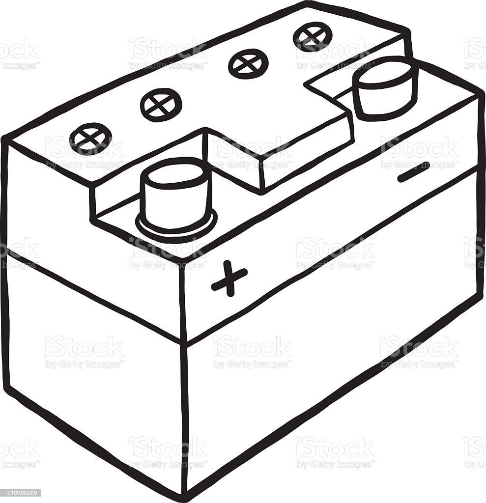 car battery stock vector art 519965266