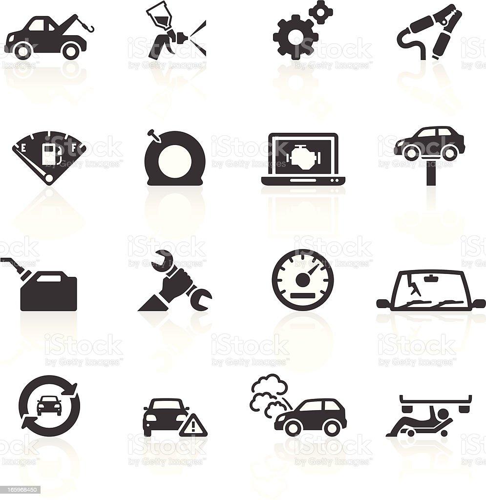 Car Breakdown & Repair Icons vector art illustration