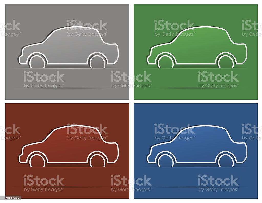 Car cartoon royalty-free stock vector art